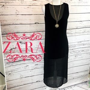 Zara Black Sheer Dress